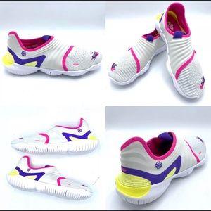 Women's Nike free run flyknit 3.0 white pink new
